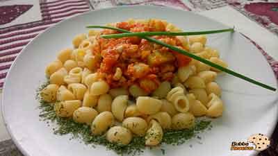 Conchas con salsa de calamares (ingredientes y elaboración)